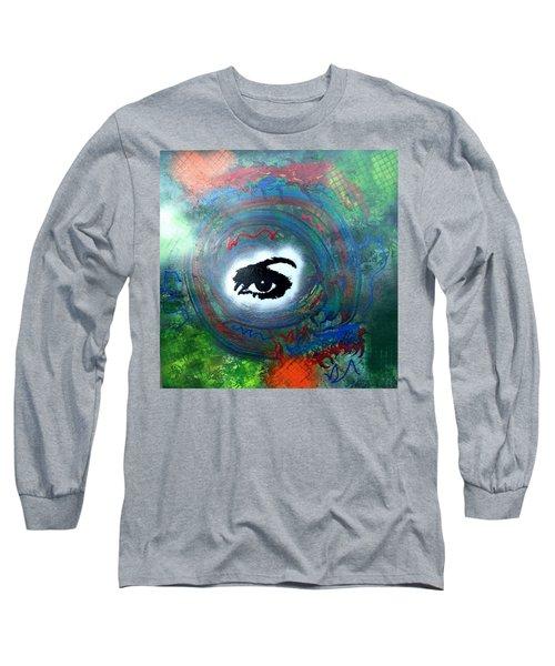 Mixed Media Abstract Post Modern Art By Alfredo Garcia Eye See You Long Sleeve T-Shirt