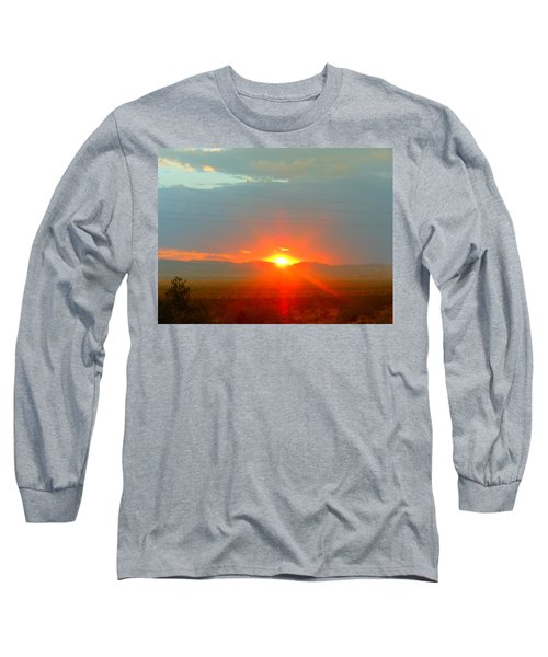 Mohave Sunset In Golden Valley Long Sleeve T-Shirt