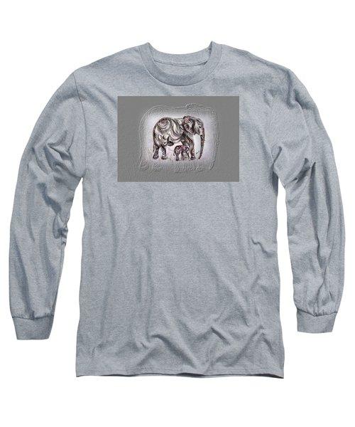 Mom Elephant Long Sleeve T-Shirt by Harsh Malik