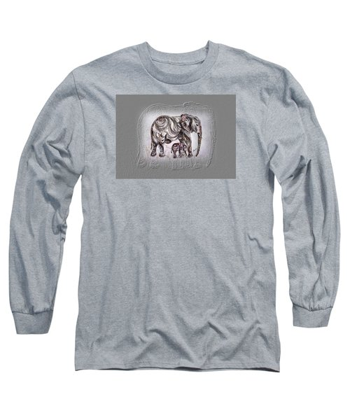 Mom Elephant Long Sleeve T-Shirt