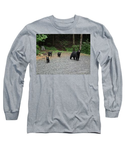 Long Sleeve T-Shirt featuring the photograph Momma And Three Bears by Jan Dappen