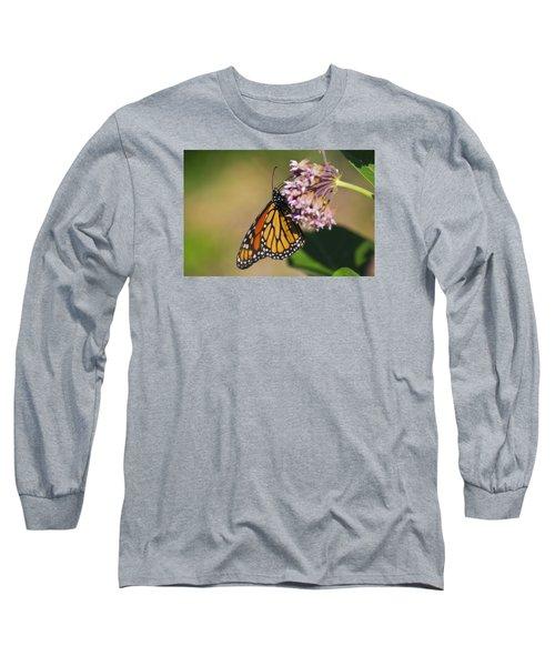 Monarch On Milkweed Long Sleeve T-Shirt