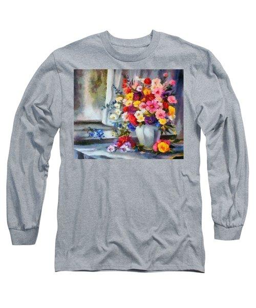Monet Floral Edged Long Sleeve T-Shirt
