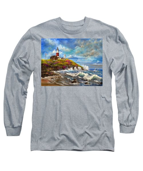 Montauk Lighthouse Long Sleeve T-Shirt