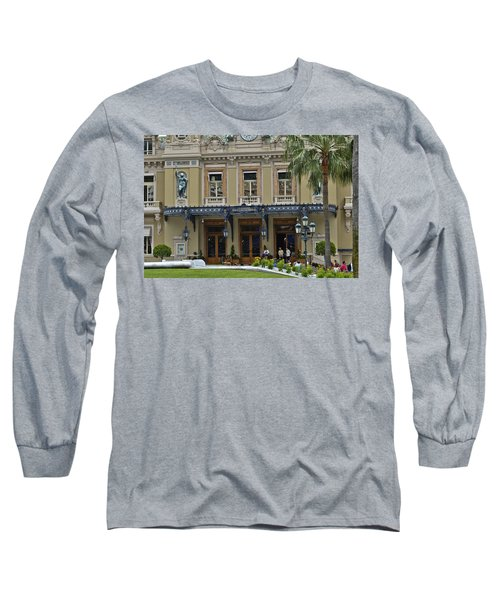 Long Sleeve T-Shirt featuring the photograph Monte Carlo Casino by Allen Sheffield