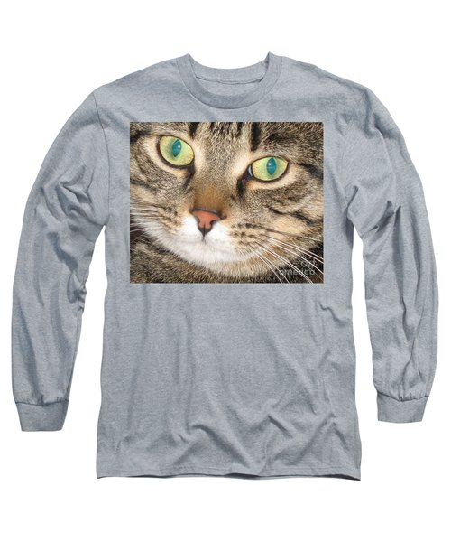 Long Sleeve T-Shirt featuring the photograph Monty The Cat by Jolanta Anna Karolska