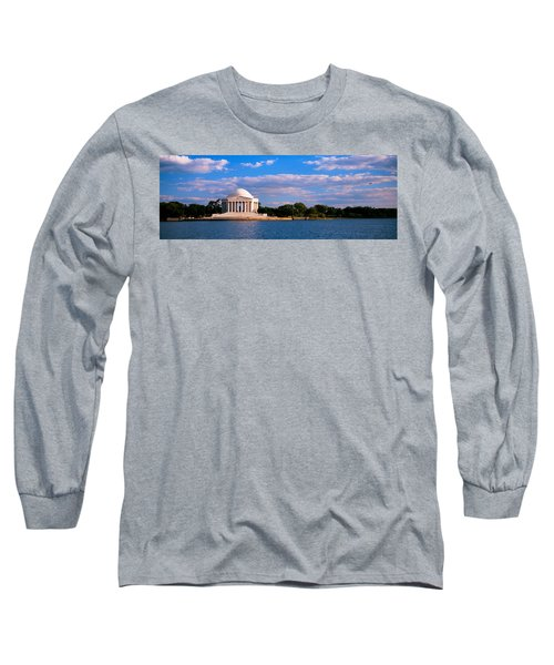 Monument On The Waterfront, Jefferson Long Sleeve T-Shirt by Panoramic Images