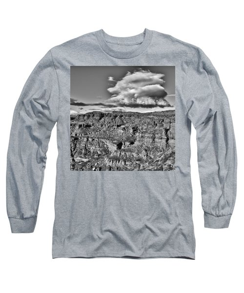 Long Sleeve T-Shirt featuring the photograph Monument Valley 5 Bw by Ron White
