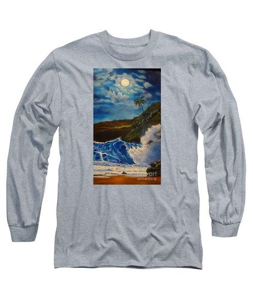 Moonlit Wave 11 Long Sleeve T-Shirt