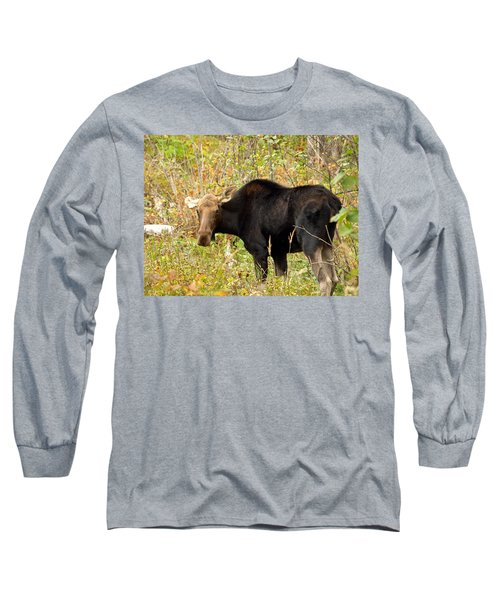Long Sleeve T-Shirt featuring the photograph Moose by James Peterson