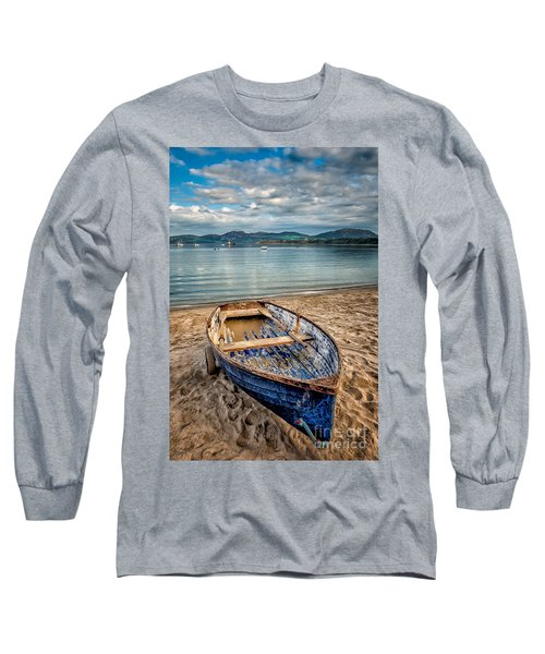 Morfa Nefyn Boat Long Sleeve T-Shirt by Adrian Evans