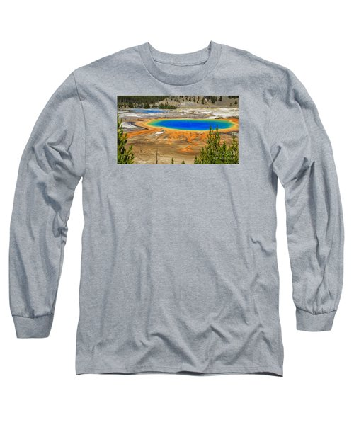 Grand Prismatic Geyser Yellowstone National Park Long Sleeve T-Shirt