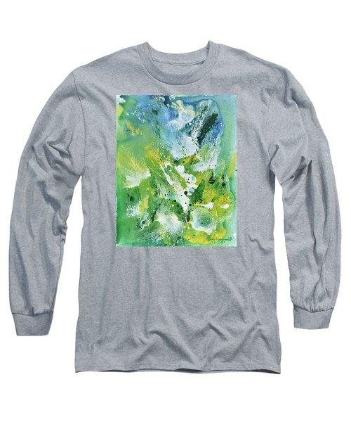 Long Sleeve T-Shirt featuring the painting Morning Hillside by Craig T Burgwardt