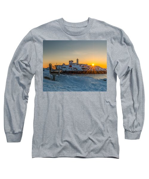 Morning Light At Nubble Lighthouse Long Sleeve T-Shirt