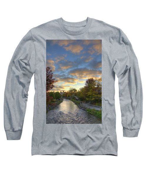 Morning Sky On The Fox River Long Sleeve T-Shirt