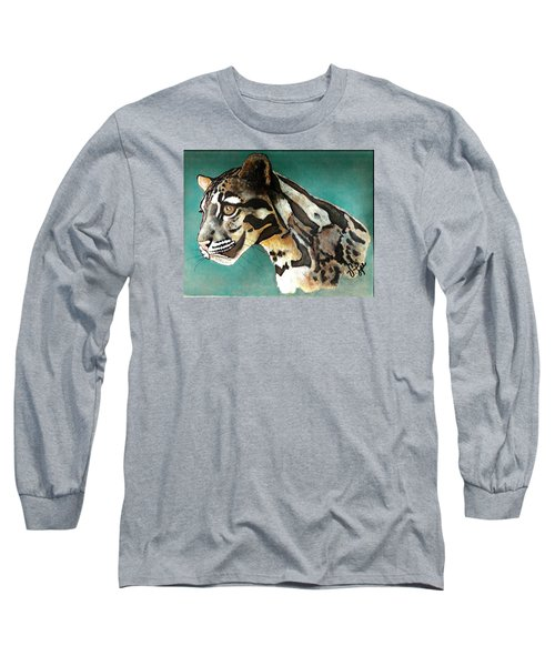 Long Sleeve T-Shirt featuring the painting Most Elegant Leopard by VLee Watson