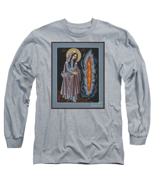 Long Sleeve T-Shirt featuring the painting Mother Of God Of Kosovo 087 by William Hart McNichols