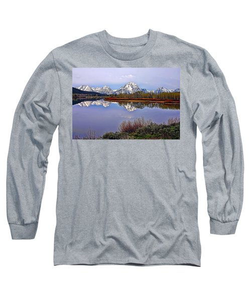 Mount Moran And Jackson Lake Long Sleeve T-Shirt