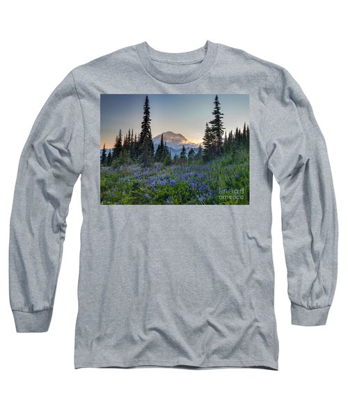 Mount Rainer Flower Fields Long Sleeve T-Shirt