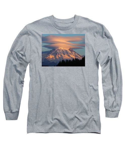 Mount Rainier In November  Long Sleeve T-Shirt