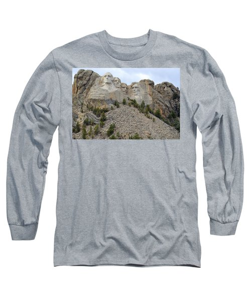 Mount Rushmore In South Dakota Long Sleeve T-Shirt by Clarice  Lakota