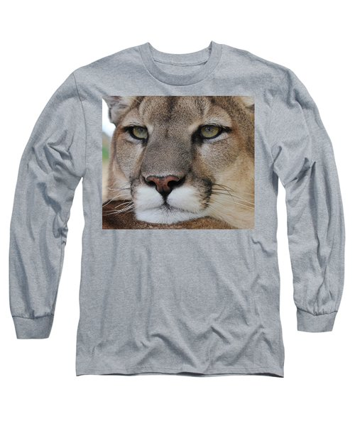Mountain Lion Portrait 2 Long Sleeve T-Shirt