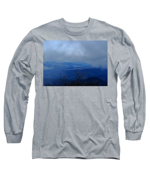 Mountains And Ice Long Sleeve T-Shirt by Daniel Reed