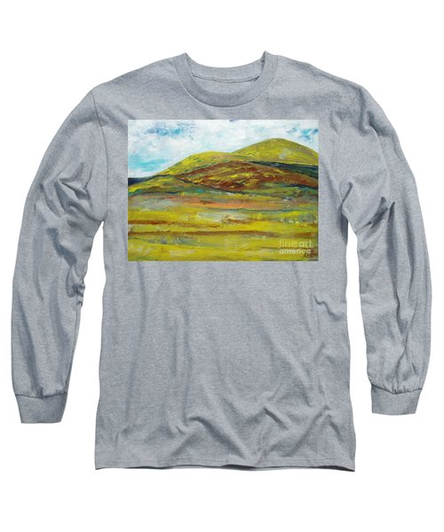 Mountains  Long Sleeve T-Shirt by Reina Resto