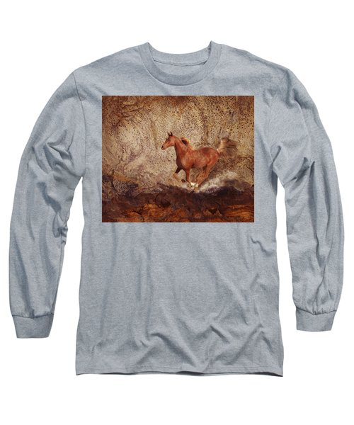 Movin' On Long Sleeve T-Shirt by Melinda Hughes-Berland