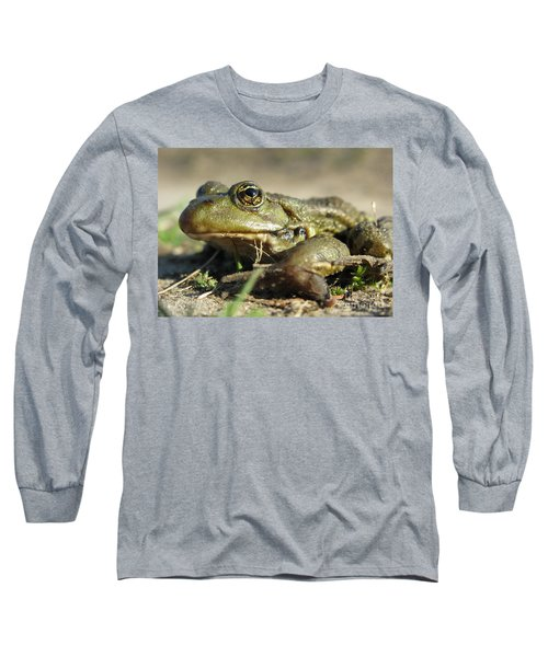 Long Sleeve T-Shirt featuring the photograph Mr. Charming Eyes. Side View by Ausra Huntington nee Paulauskaite
