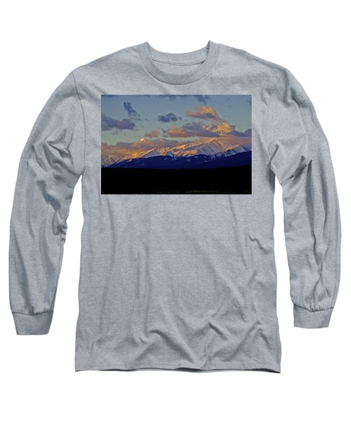 Mt Elbert Sunrise Long Sleeve T-Shirt by Jeremy Rhoades