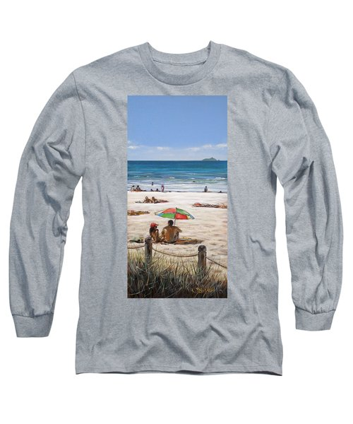 Mt Maunganui Beach 090209 Long Sleeve T-Shirt by Sylvia Kula