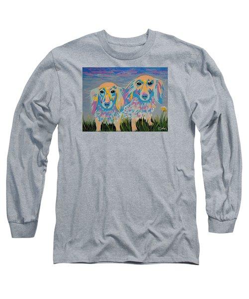 Long Sleeve T-Shirt featuring the painting Mugi And Tatami by Kathleen Sartoris