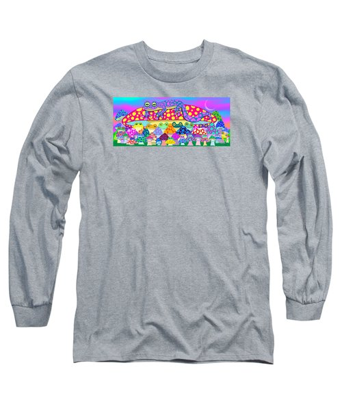 Mushroom Meadow Frogs Long Sleeve T-Shirt