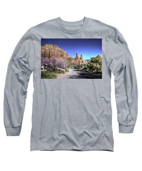 Mushroom Rock Long Sleeve T-Shirt by Lynn Geoffroy