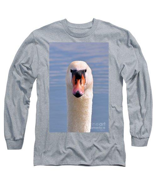 Long Sleeve T-Shirt featuring the photograph Mute Swan Staring by Susan Wiedmann