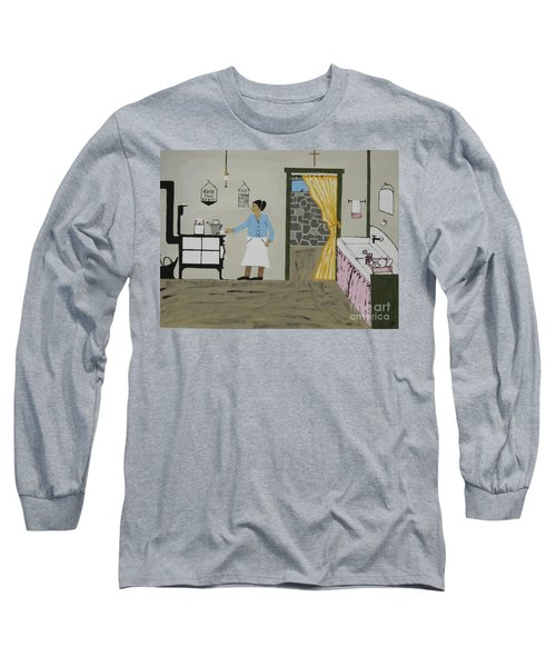 Long Sleeve T-Shirt featuring the painting Coal Miners Wife by Jeffrey Koss