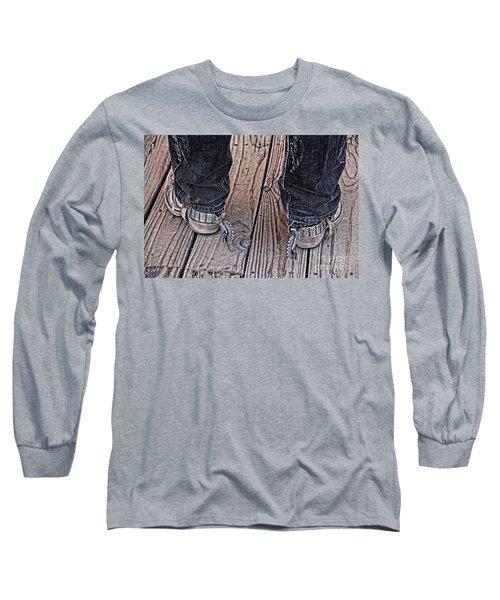 My Spurs Go Jingle Jangle Long Sleeve T-Shirt by Bob Hislop