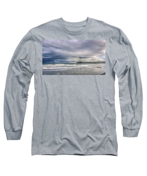 Myrtle Beach Fishing Pier Long Sleeve T-Shirt by Rob Sellers