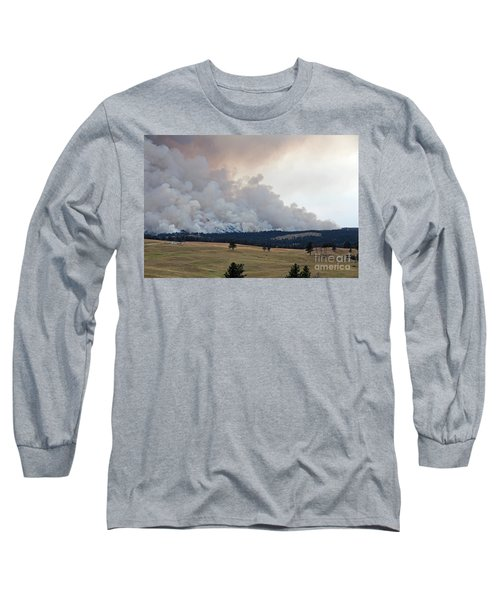 Myrtle Fire West Of Wind Cave National Park Long Sleeve T-Shirt