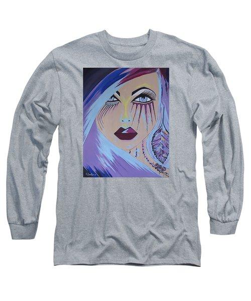 Long Sleeve T-Shirt featuring the painting Naira by Kathleen Sartoris