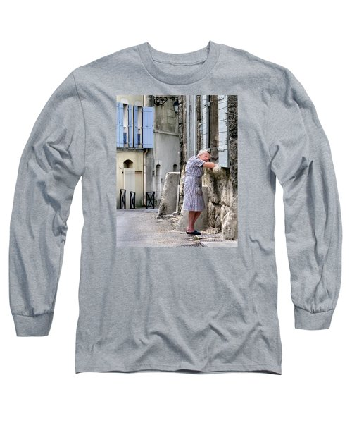 Long Sleeve T-Shirt featuring the photograph Naptime In Arles. France by Jennie Breeze