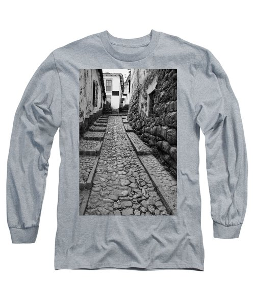 Narrow Street In Cusco Long Sleeve T-Shirt by Alexey Stiop