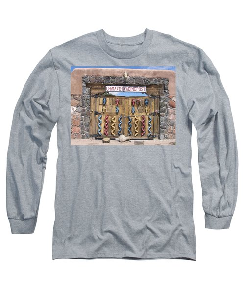 Long Sleeve T-Shirt featuring the photograph Native American Trading Post by Dora Sofia Caputo Photographic Art and Design