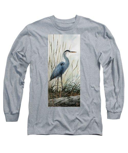 Natures Gentle Stillness Long Sleeve T-Shirt by James Williamson