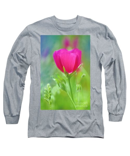 Long Sleeve T-Shirt featuring the photograph Natures Winecup South Texas by Dave Welling