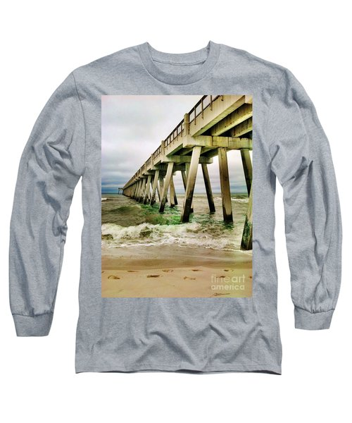 Navarre Pier Long Sleeve T-Shirt by Janice Spivey