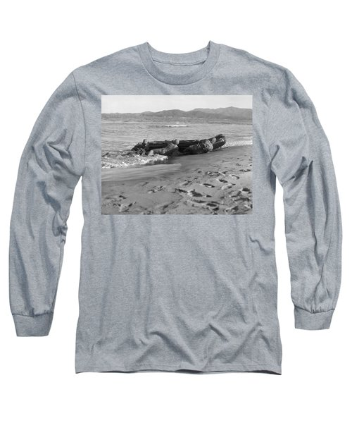 Navy Frogmen At Work Long Sleeve T-Shirt