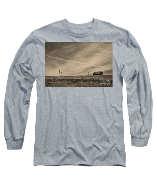 An Abandoned Nebraska Barn Long Sleeve T-Shirt