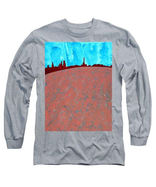 Needles And Dunes Original Painting Long Sleeve T-Shirt